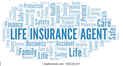 Life Insurance Agent word cloud vector made with text only