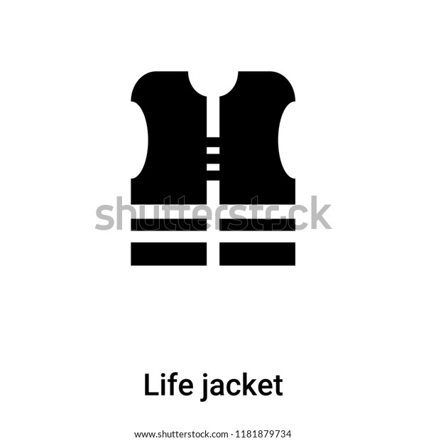Life Jacket Icon Vector Isolated On Stock Vector Royalty Free 1181879734