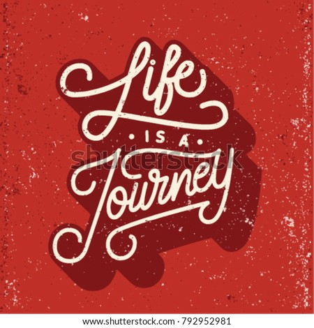 Life Journey Quotes Lettering Card Stock Vector Royalty Free Interesting Life Is A Journey Quotes