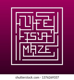 Life is a Maze Typography