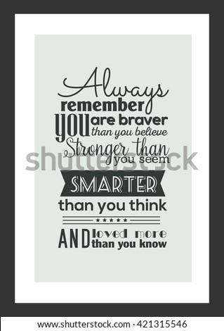 Life Quote Always Remember You Braver Stockvector Rechtenvrij