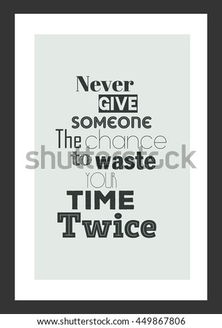 Life Quote Inspirational Quote Never Give Stock Vector Royalty Free