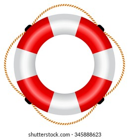Life raft icon, vector illustration isolated on white background