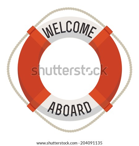 84c78995f21e Life Ring Welcome Aboard Title Welcome Stock Vector (Royalty Free ...