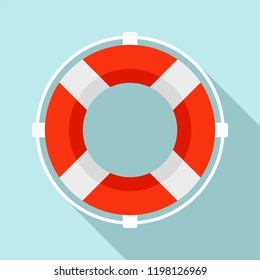 Life saver buoy solution icon. Flat illustration of life saver buoy solution vector icon for web design