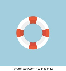 Life Saver Ring Icon. Modern Minimal Flat Design Style, Vector illustration. Travel Icons Set