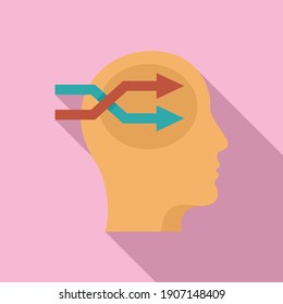 Life skills ideation icon. Flat illustration of life skills ideation vector icon for web design