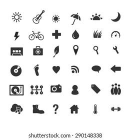 Life style icons set