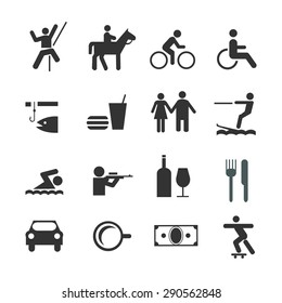 Life style icons set vector