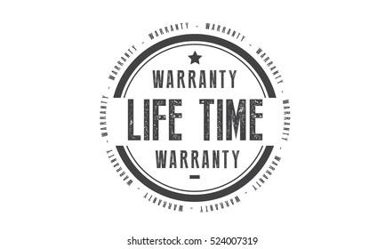 life time warranty icon