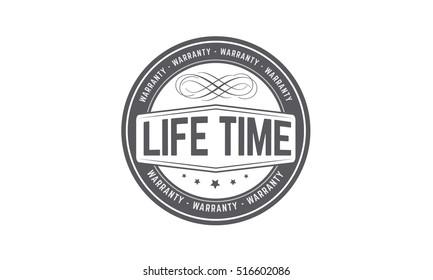 life time warranty icon vector