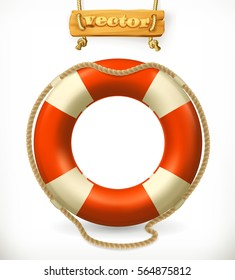 Lifebuoy 3d vector icon