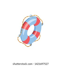 Lifebuoy, help. Vector 3d isometric color icon new flat style. Creative illustration, idea for infographics.