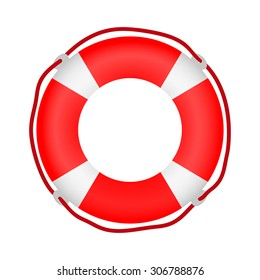 8f01625fa72 Striped Red White Lifebuoy Rope Around Stock Vector (Royalty Free ...