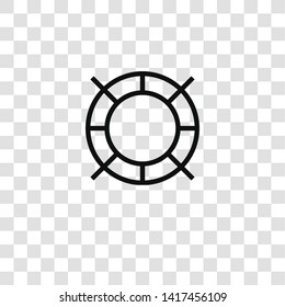 lifebuoy icon from business collection for mobile concept and web apps icon. Transparent outline, thin line lifebuoy icon for website design and mobile, app development