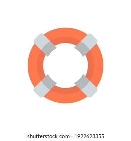 lifebuoy icon of color style vector illustration design
