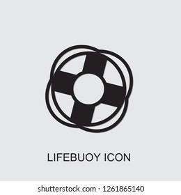 lifebuoy icon . Editable filled lifebuoy icon from summer. Trendy lifebuoy icon for web and mobile.