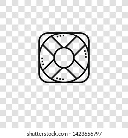 lifebuoy icon from emergency collection for mobile concept and web apps icon. Transparent outline, thin line lifebuoy icon for website design and mobile, app development