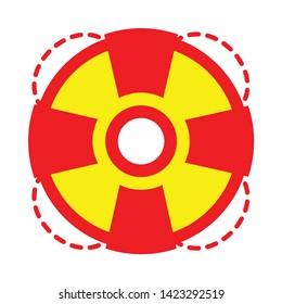 lifebuoy icon. flat illustration of lifebuoy vector icon for web