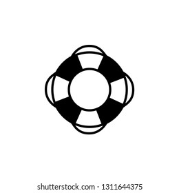 Lifebuoy Icon In Flat Style Vector For App, UI, Websites. Black Icon Vector Illustration.