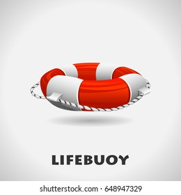 Lifebuoy icon. Help vector illustration