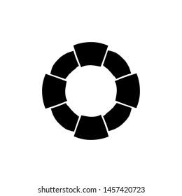 lifebuoy icon, illustration design template