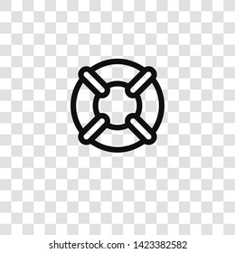 lifebuoy icon from insurance collection for mobile concept and web apps icon. Transparent outline, thin line lifebuoy icon for website design and mobile, app development