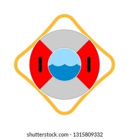 lifebuoy icon - lifesaver isolated, preserver life element illustration - Vector lifebelt