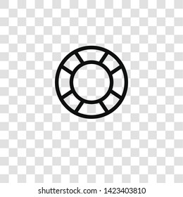 lifebuoy icon from nautical collection for mobile concept and web apps icon. Transparent outline, thin line lifebuoy icon for website design and mobile, app development
