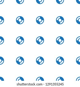 lifebuoy icon pattern seamless white background. Editable filled lifebuoy icon. lifebuoy icon pattern for web and mobile.
