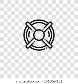 lifebuoy icon from pirates collection for mobile concept and web apps icon. Transparent outline, thin line lifebuoy icon for website design and mobile, app development