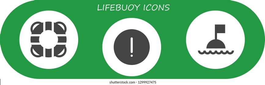 lifebuoy icon set. 3 filled lifebuoy icons.  Simple modern icons about  - Lifebuoy, Advise, Buoy