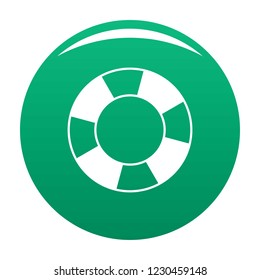 Lifebuoy icon. Simple illustration of lifebuoy vector icon for any design green