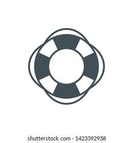 Lifebuoy Icon Vector Illustration Design