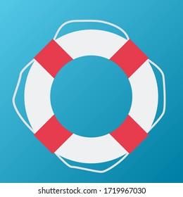 Lifebuoy Icon. Vector Illustration EPS10