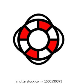 Lifebuoy icon,vector illustration. Flat design style. vector  lifebuoy icon illustration isolated on White background, lifebuoy icon Eps10. lifebuoy icons graphic design vector symbols.