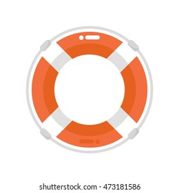 Lifebuoy isolated. Vector, flat design, illustration.