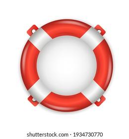 Lifebuoy. Sea and beach. Vector illustration