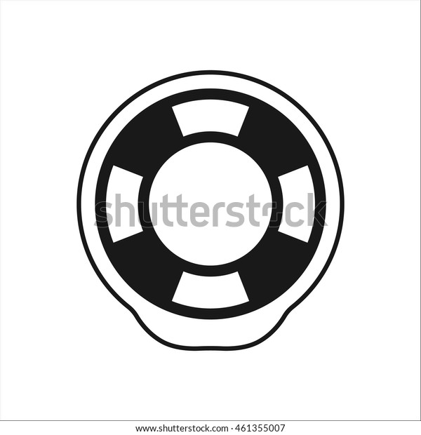 The lifebuoy symbol sign simple icon on background