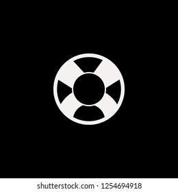 lifebuoy vector icon. flat lifebuoy design. lifebuoy illustration for graphic