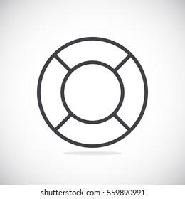 lifebuoys icon vector