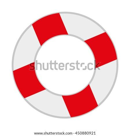 17de1b6f3ff6 Lifeguard Float Isolated Icon Design Vector Stock Vector (Royalty ...