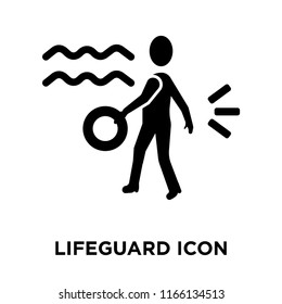 Lifeguard icon vector isolated on white background, Lifeguard transparent sign