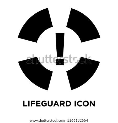 c4a76a97d424 Lifeguard Icon Vector Isolated On White Stock Vector (Royalty Free ...