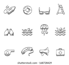 Lifeguard icons in sketches