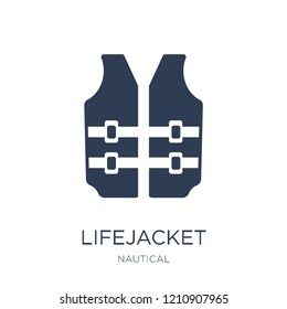 Lifejacket icon. Trendy flat vector Lifejacket icon on white background from Nautical collection, vector illustration can be use for web and mobile, eps10