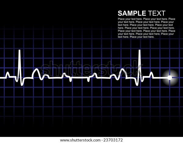 lifeline in an electrocardiogram, wallpaper