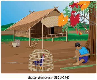 lifestyle in countryside vector design