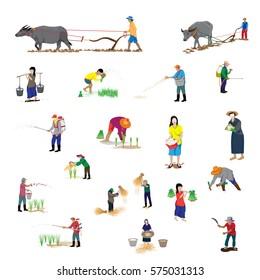 lifestyle of farmer shape vector design