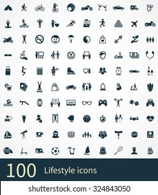lifestyle Icons Vector set